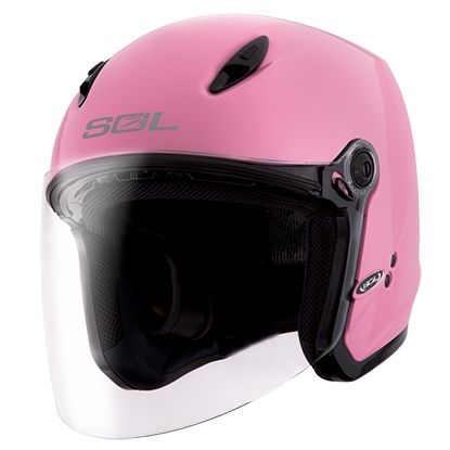 SOL安全帽27Y素色消光草莓粉