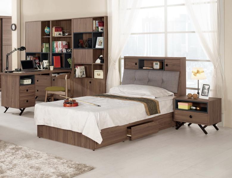 8號店鋪森寶藝品傢俱企業社511-1 6 7約克3.5尺被櫥式單人床不含床墊單邊抽屜
