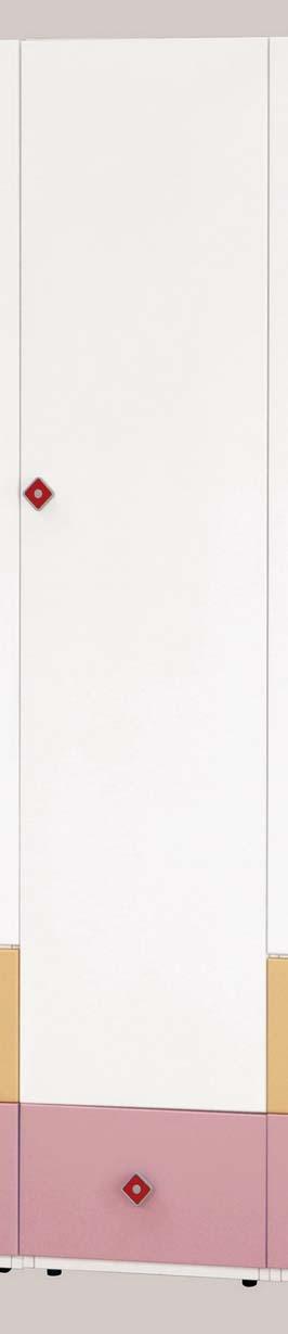 【森可家居】安妮塔1.4尺衣櫥 6CM645-7 窄 細長型 衣櫃