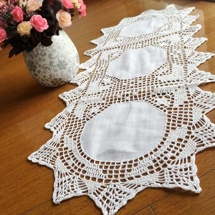 時尚可愛空間餐桌布 茶几布 隔熱墊 鍋墊 杯墊 餐桌巾桌旗 48 (35*90cm)
