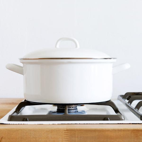 奧地利RIESS純白系列琺瑯燉鍋湯鍋22cm 3L