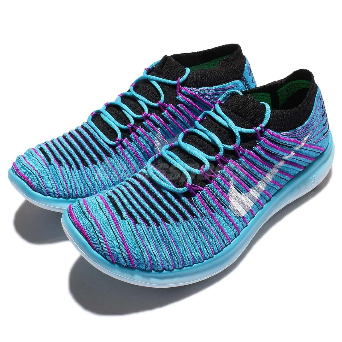 Nike慢跑鞋Wmns Free RN Motion Flyknit Run 5.0赤足藍紫白勾女鞋PUMP306 834585-401