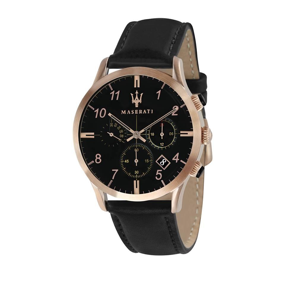 Maserati 瑪莎拉蒂-台灣總代理公司貨-原廠保固兩年-質感三眼腕錶(手錶 男錶 女錶 對錶)