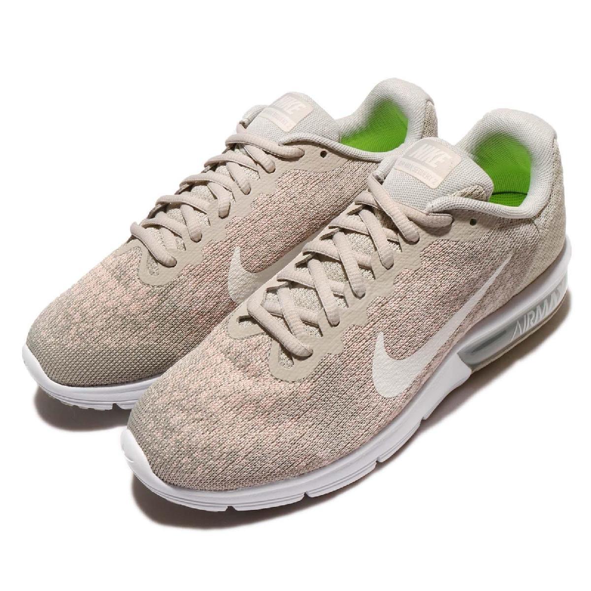 Nike慢跑鞋Wmns Air Max Sequent灰卡其白底氣墊編織雪花鞋面女鞋PUMP306 852465-011