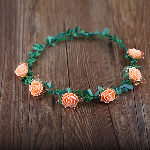 兒童花環滿天星發箍新娘公主旅遊景點拍照森女花頭飾 6朵花─預購CH1693