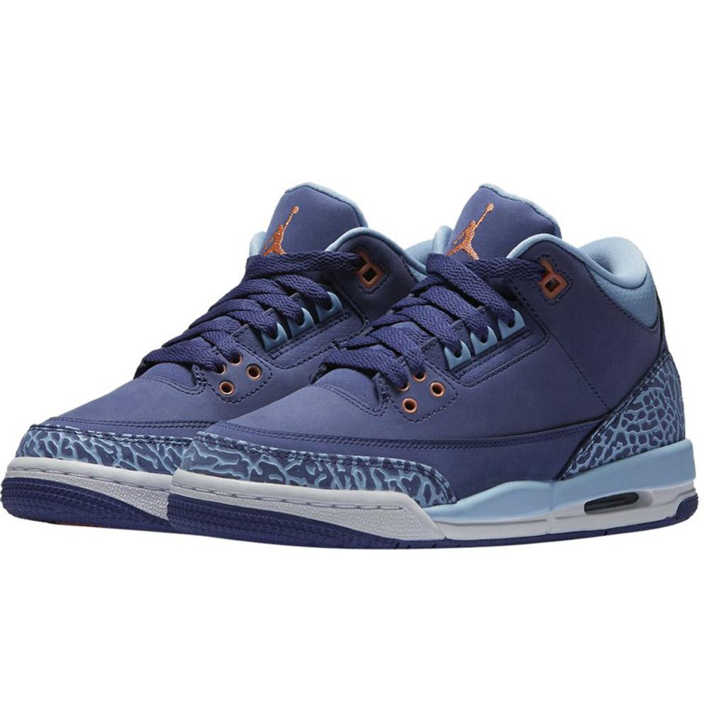 特價出清NIKE AIR JORDAN 3 RETRO GG喬丹女鞋籃球鞋爆裂紋藍紫運動世界441140-506