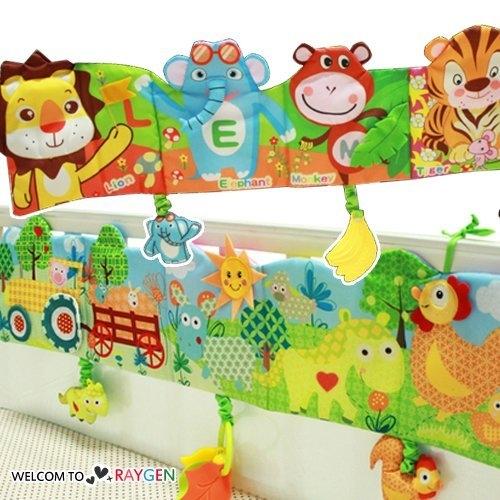 快樂動物園益智床圍布書響紙玩具