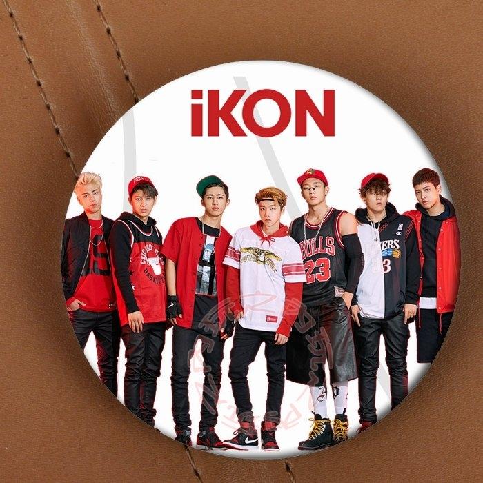IKON徽章胸針別針E389-B玩之內韓國