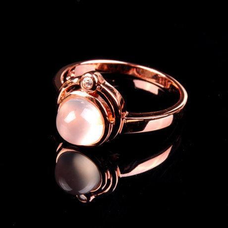 水晶月光石戒指可愛大方