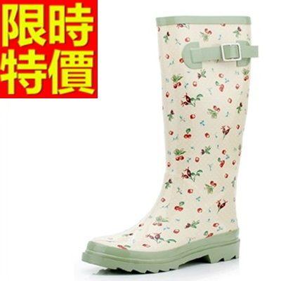 雨靴-女雨具防水典雅防滑女長筒雨鞋54k39[時尚巴黎]