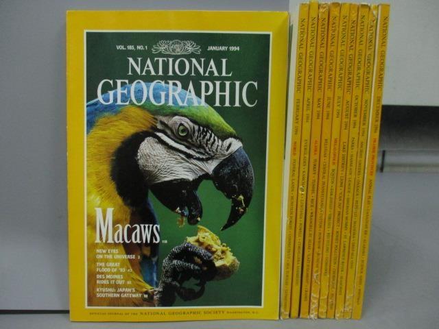【書寶二手書T8/雜誌期刊_RFM】National Geographic_1994/1~12月間_共10本合售_Mac
