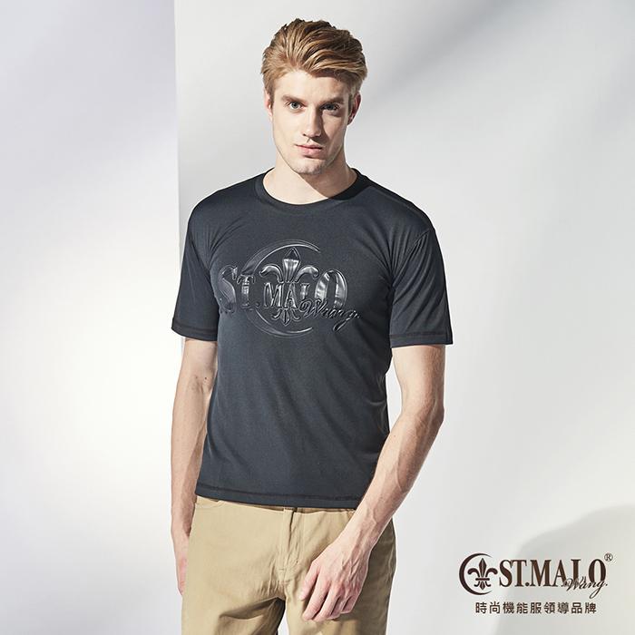 【ST.MALO】MIT 極簡鋼印防蚊吸排男上衣-1722MT- 晶鑽黑