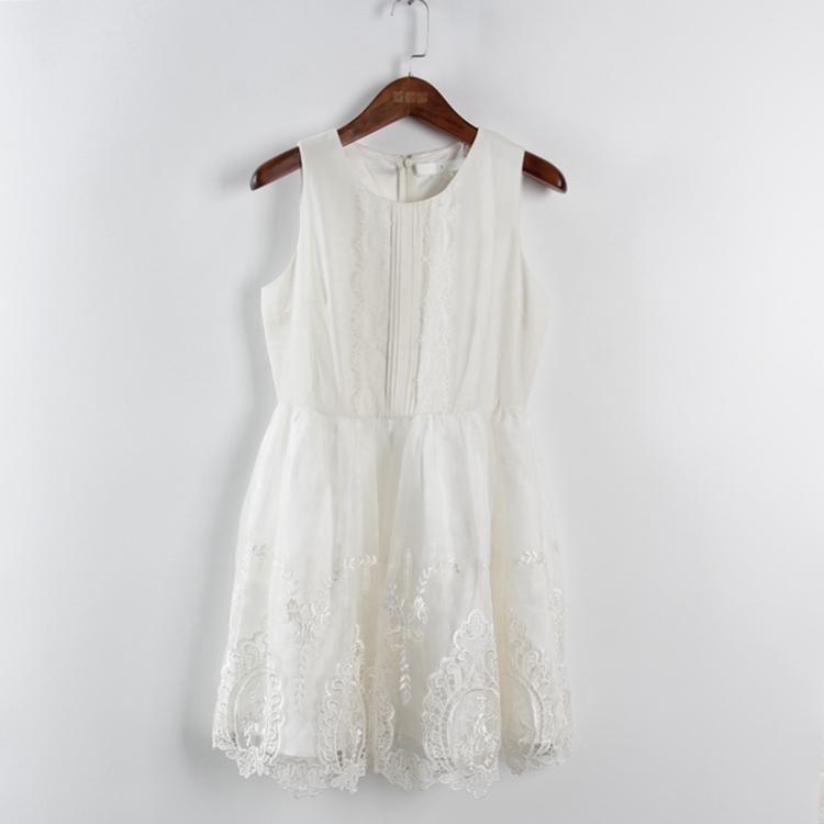超豐國際面春夏裝女裝白色禮服式蕾絲連衣裙31377 1入