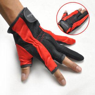 露三指手背網面手掌膠點防滑釣魚快樂垂釣用品