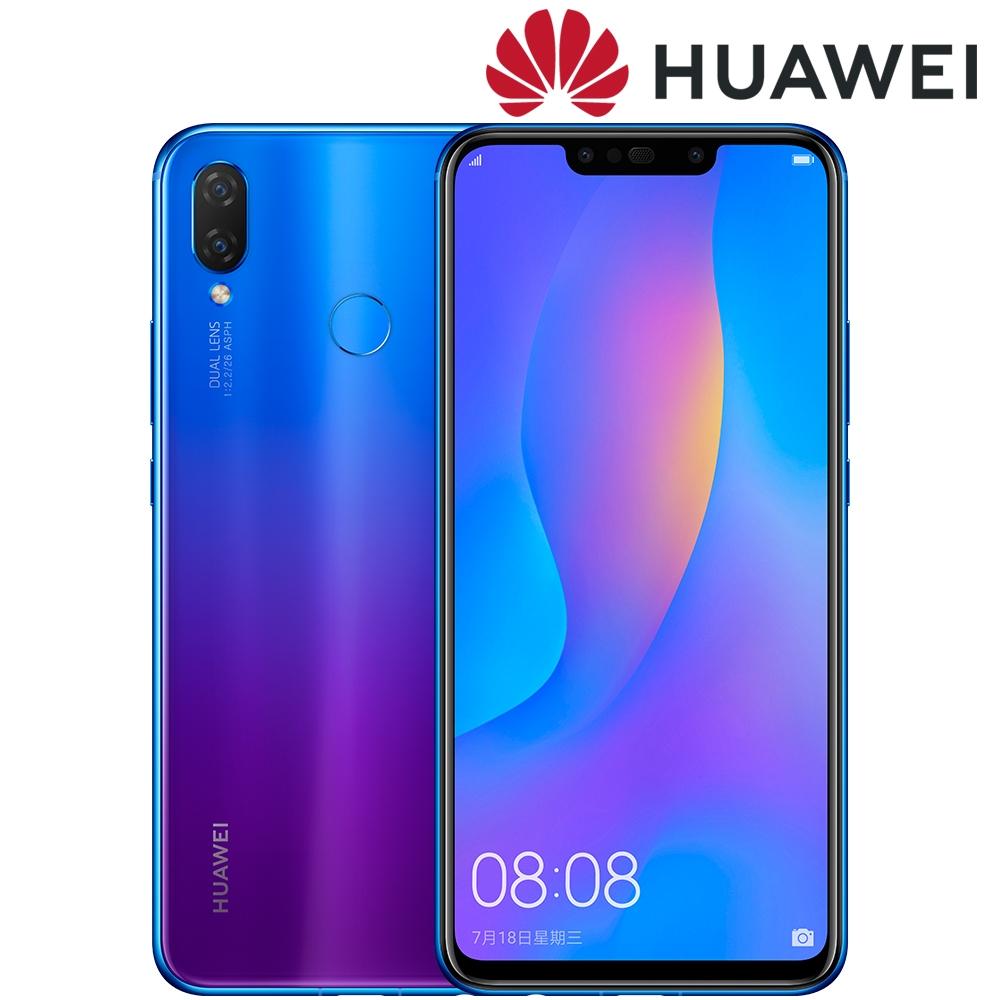 HUAWEI nova 3i 6.3吋海報級自拍手機4G/128GB(全新保固一年)送玻璃保貼(非滿版)