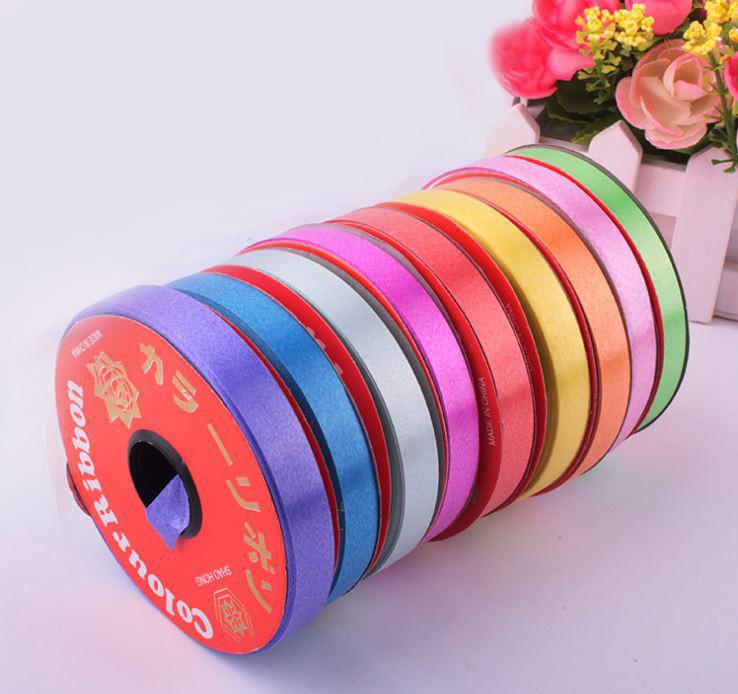 節慶綁氣球紮帶素色彩帶(1.2cm寬22米長) 9元