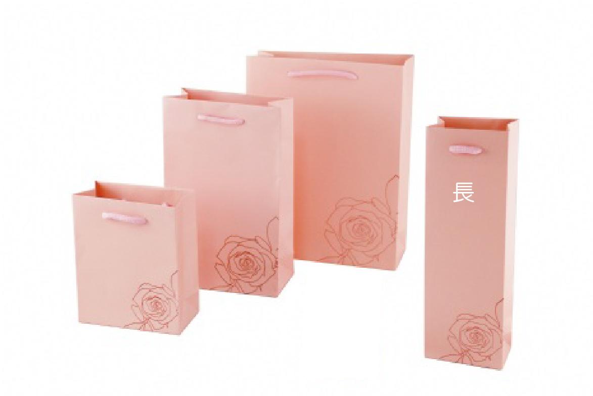 紙袋-粉玫瑰款