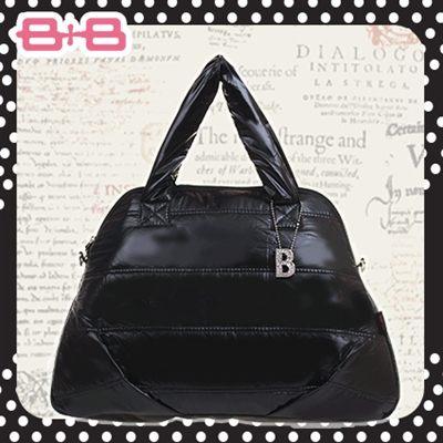 時尚B媽媽空氣包-黑尿布墊保溫袋大空間肩揹側背媽咪包HAPPY B B E-B-95158A-B