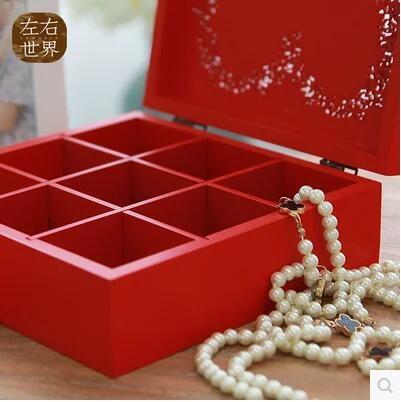 歐式公主木質大首飾收納盒飾品盒化妝盒新娘配飾盒