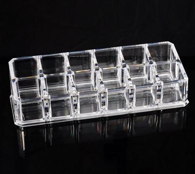 透明多格化妝品收納盒口紅展示架口紅收納盒化妝盒12格預購CH1002