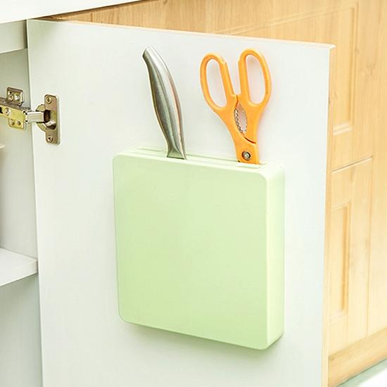 MY COLOR多功能隱形刀架廚房收納剪刀工具儲存菜刀水果刀黏貼通風瀝乾W53