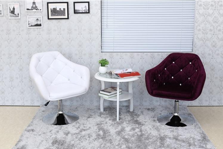 南洋風休閒傢俱設計單椅系列-芝加哥絨布pu皮休閒椅沙發升降美容椅洽談椅房間椅吧椅501-6
