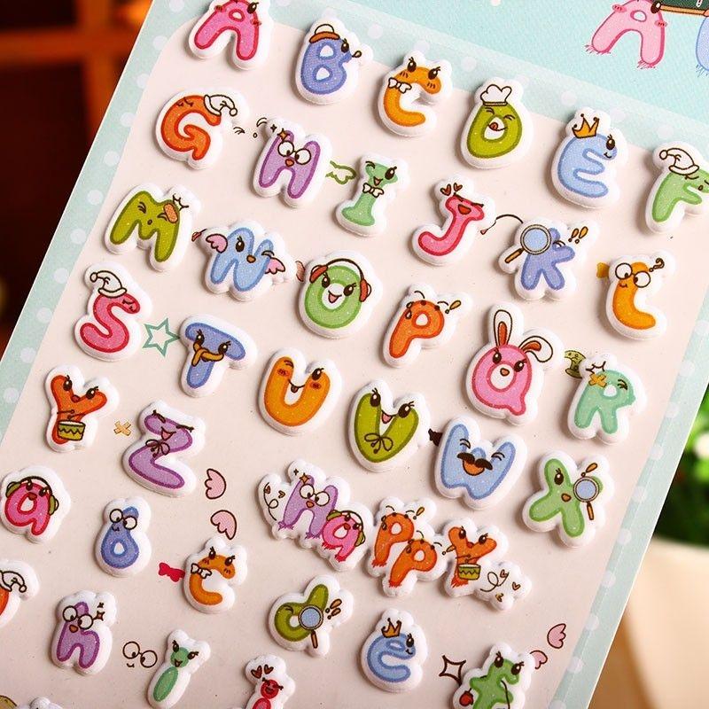 韓國可愛手機貼畫 可愛立體泡泡貼紙-字母【魔小物】「現貨1」