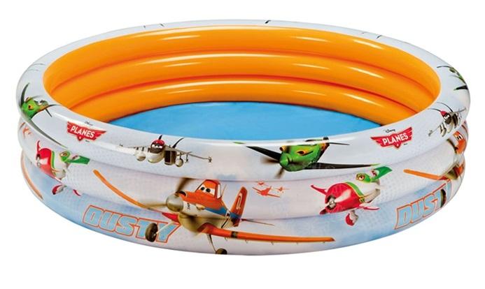 幼之圓*INTEX飛機總動員三環泳池~迪士尼正版授權~三層球池游泳池球池168*40公分