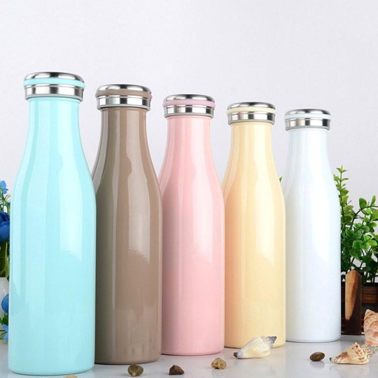 保溫瓶【KCW051】日本熱銷不鏽鋼牛奶保溫瓶500ml 大容量 牛奶瓶 保溫瓶 情人節禮物 水瓶-收納女王