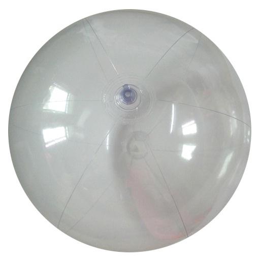 [衣林時尚] 全透明沙灘球 海灘球 (充氣後直徑約24-25cm)  非INTEX商品 內有鈴鐺