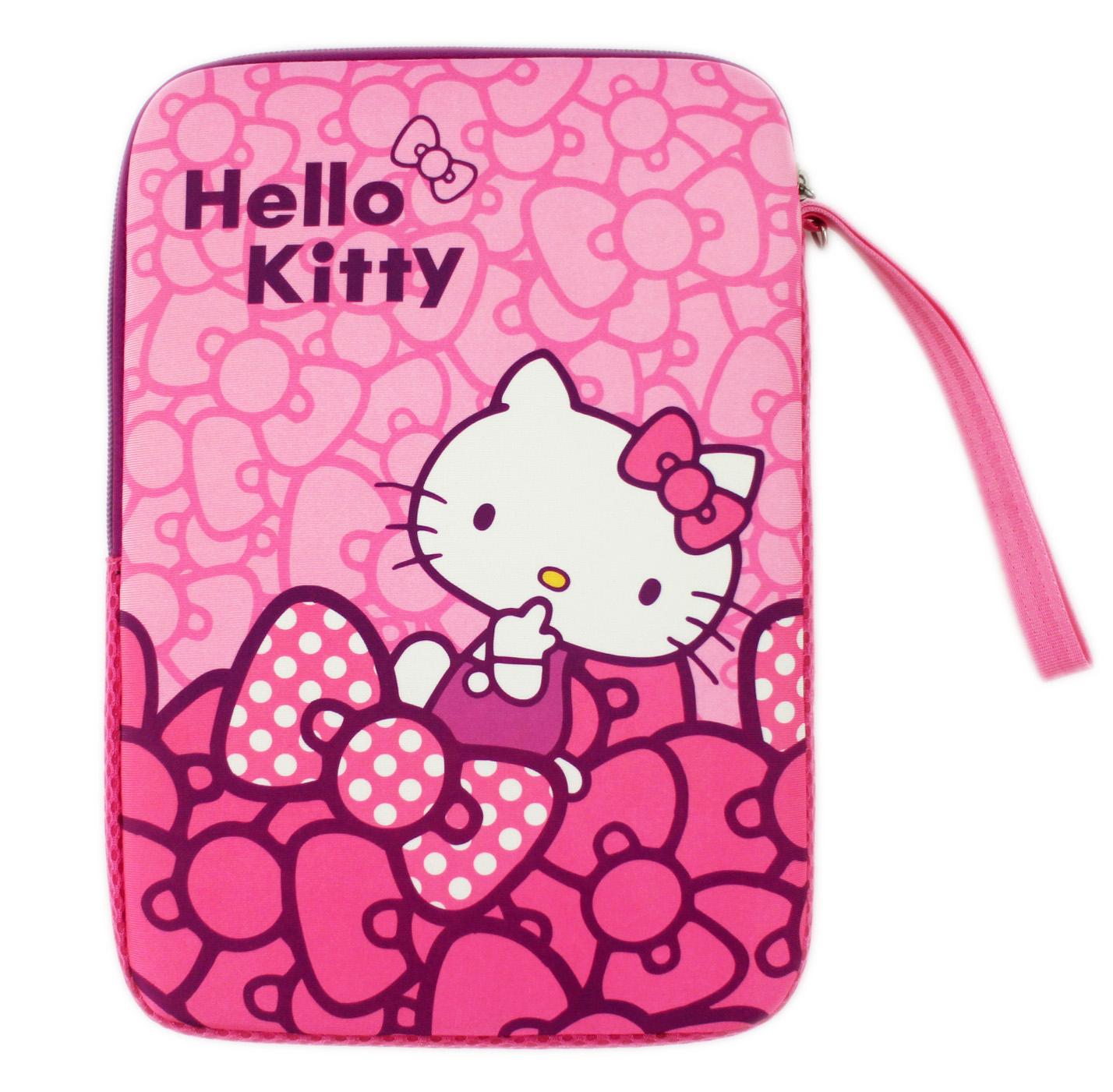 【卡漫城】 Hello Kitty 10.1吋 筆記型電腦 保護袋 直式 ㊣版 平板 手提袋 筆電 避震 彈膠型 防護袋