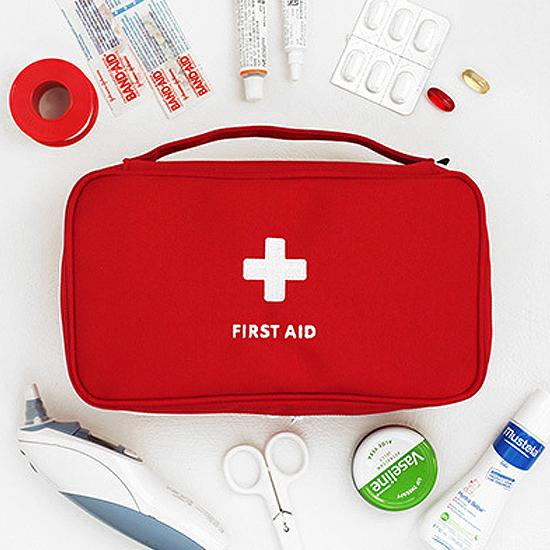 米菈生活館N09手提護理收納包大容量醫藥戶外藥物拉鍊醫療急救隨身整理緊急