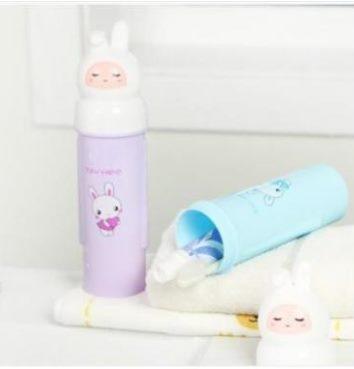 預購-旅行牙刷筒卡通便攜牙膏牙刷收納盒牙刷盒牙刷盒便攜式