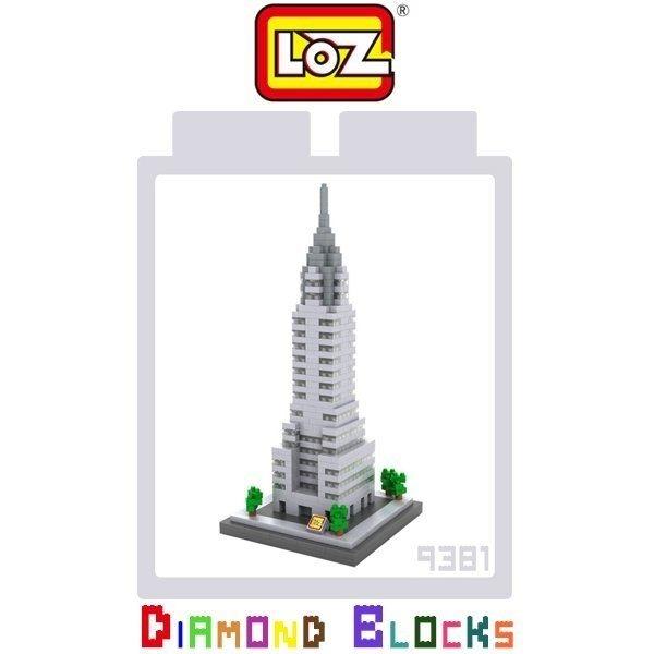 LOZ 迷你鑽石小積木 樂高式 克萊斯勒大廈 系列 益智玩具 組合玩具 原廠正版 世界建築系列