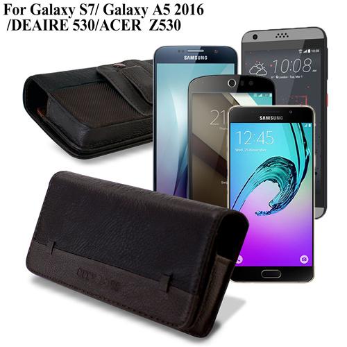 CB 三星 Galaxy S7 /Galaxy A5 2016/ DEAIRE 530/ ACER Z530 品味柔紋橫式腰掛皮套