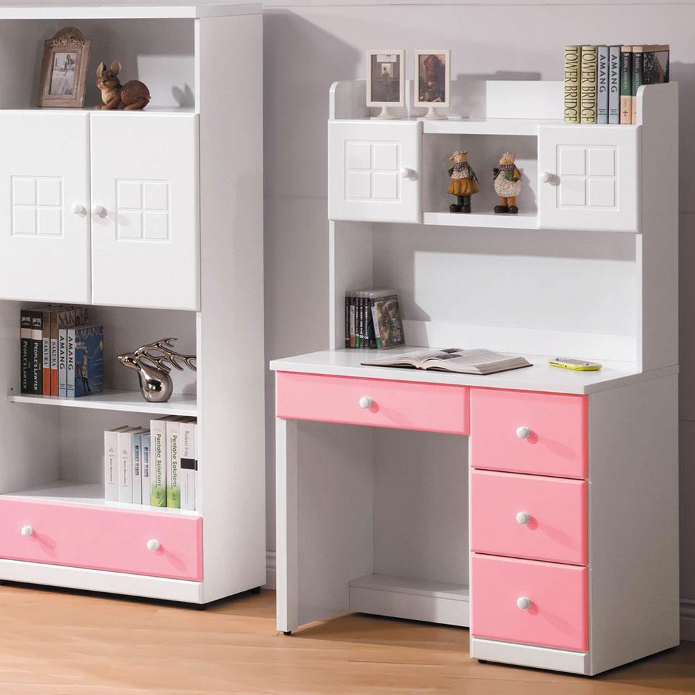 粉紅雙色3尺書桌組(20SP/038-10)/H&D東稻家居