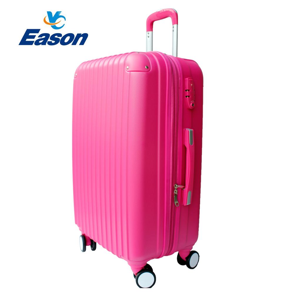 YC Eason皇家系列可加大海關鎖款ABS硬殼行李箱28吋-蜜桃紅
