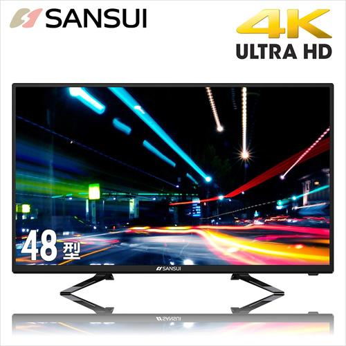 SANSUI山水48型4K UHD多媒體液晶顯示器含視訊盒SLED-4816三年保固24期0利率