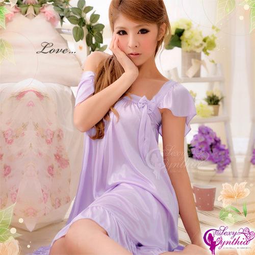 性感寶盒深情迷醉甜蜜柔緞睡襯衣NA09020021
