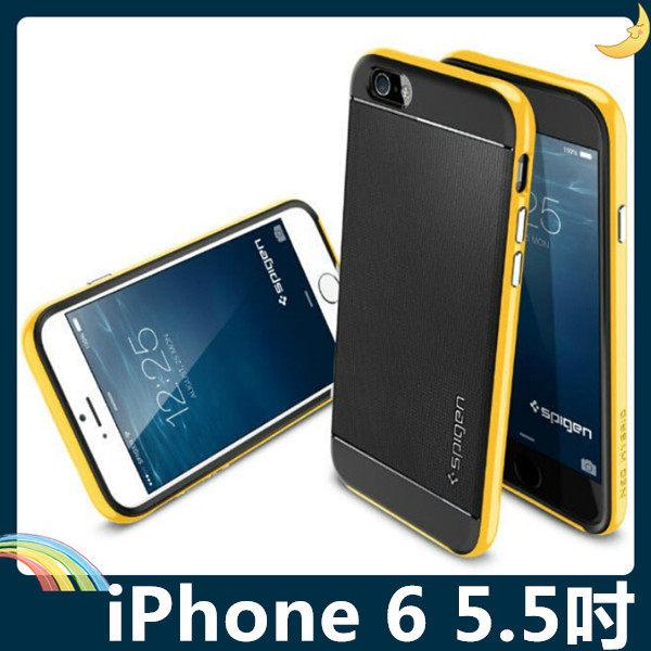 iPhone 6 6s Plus 5.5吋類金屬PC邊框矽膠保護套軟殼SP二合一組合款糖果色全包款99購物節手機殼