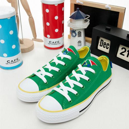 CONVERSE短筒帆布鞋-ALL STAR-南非-綠黃-1103U170297-女