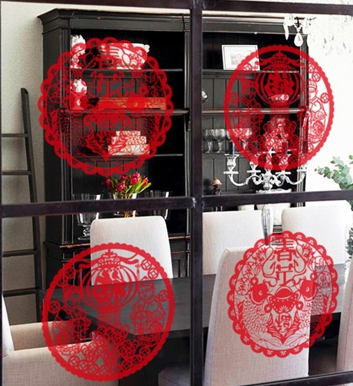 壁貼 新年裝飾牆貼 過年春節窗花 玻璃靜電貼櫥窗商店貼紙【A3098】