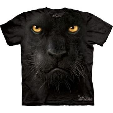 【摩達客】 (預購)(大尺碼3X) 美國進口【The Mountain】自然純棉系列 黑豹臉 設計T恤(10411045048ab)