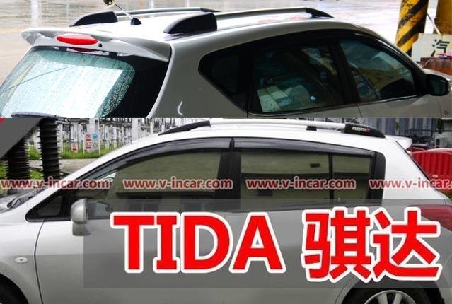 通用型NISSAN日產TIIDA BIG TIIDA LIVINA鋁合金裝飾直桿行李車架旅行風放架版