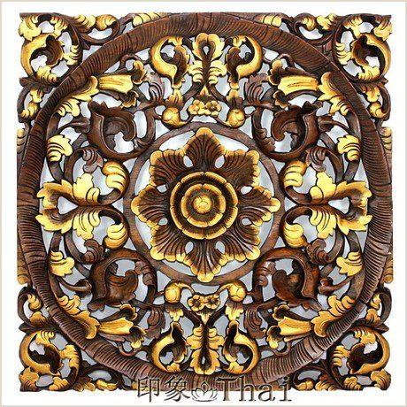 雕花板 木色描彩雕花柚木雕板