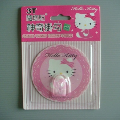 3T Hello Kitty 隨您貼神奇掛勾/掛鉤/掛鈎/重複黏貼.隨意貼掛.不留殘膠