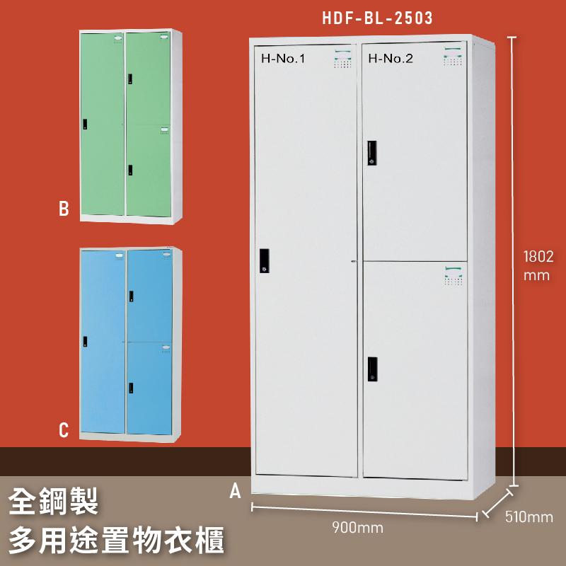 【MIT台灣製】大富 HDF-BL-2503 全鋼製多用途置物衣櫃 置物櫃 收納櫃 員工櫃 衣櫃 收納第一首選