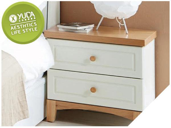 床頭櫃YUDA北歐風格英式小屋床頭櫃床邊櫃小矮櫃J7S 432-3