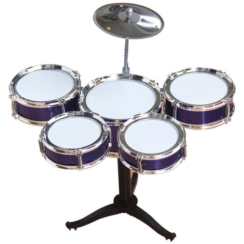 兒童架子鼓初學者練習鼓仿真爵士鼓樂器音樂玩具鐳射五鼓免運