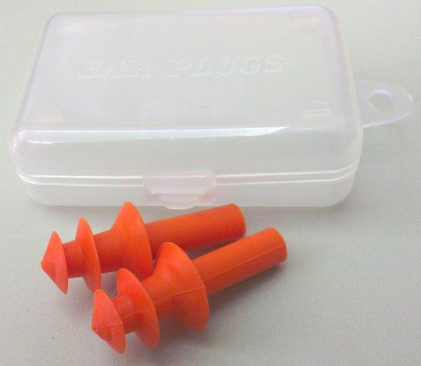 可重複使用耳塞 附收納盒‧橘色-【Fruit Shop】
